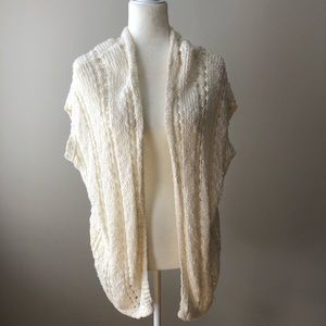 American Eagle Short Sleeve Open Front Sweater